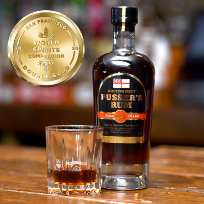 Pusser's Rum Aged 15 Years wins Double Gold at the 2020 San Francisco World Spirits Competition