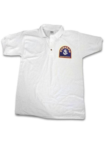 Pussers Rum Polo WHITE or NAVY