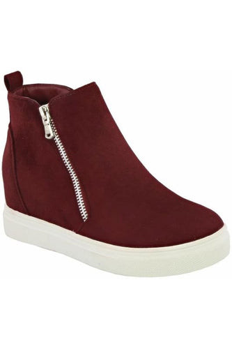 Anoki Hidden Wedge Sneaker-Dark Red - Shoes