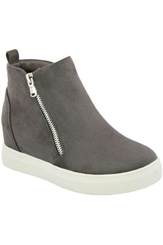 Anoki Hidden Wedge Sneaker-Grey - Shoes