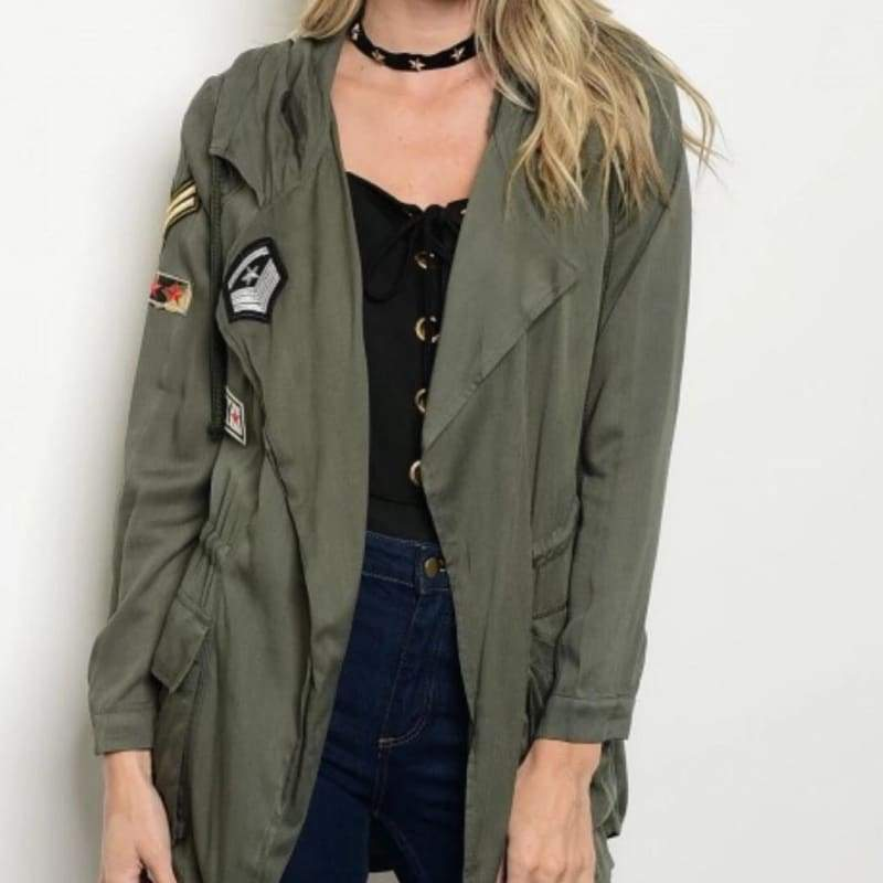 Anorak Army Green Jacket - Outerwear