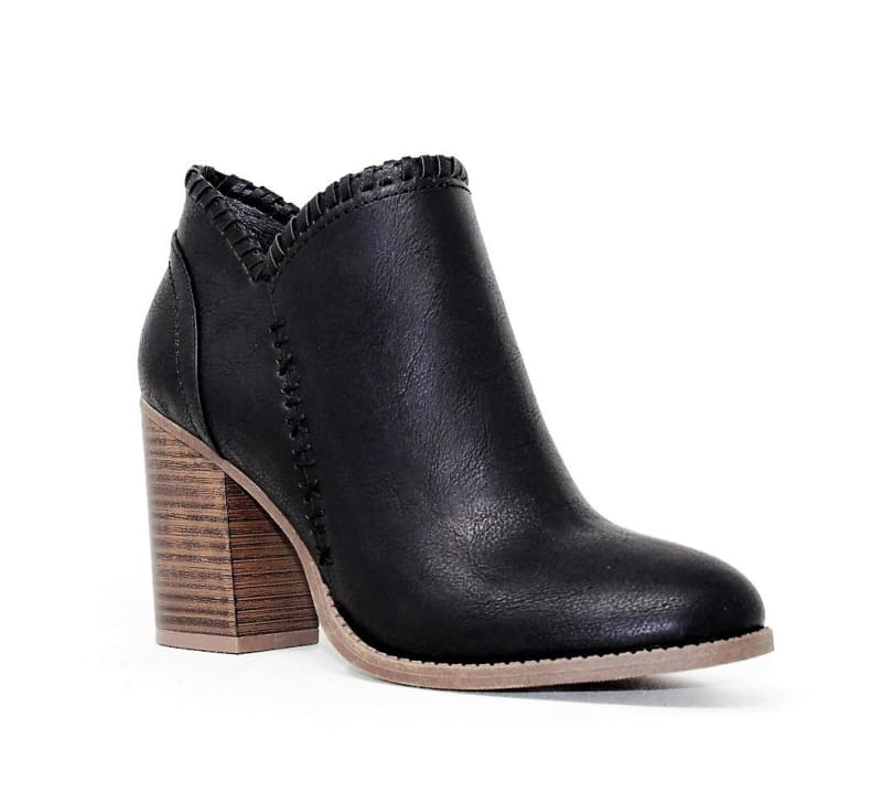 Celeste Black Ankle Booties - Shoes