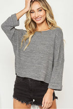 Load image into Gallery viewer, Floramaria waffle knit Top - Top