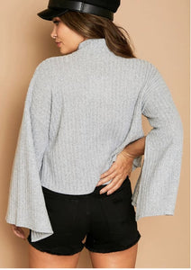 Hadarah Mock Turtle Neck Top - Top