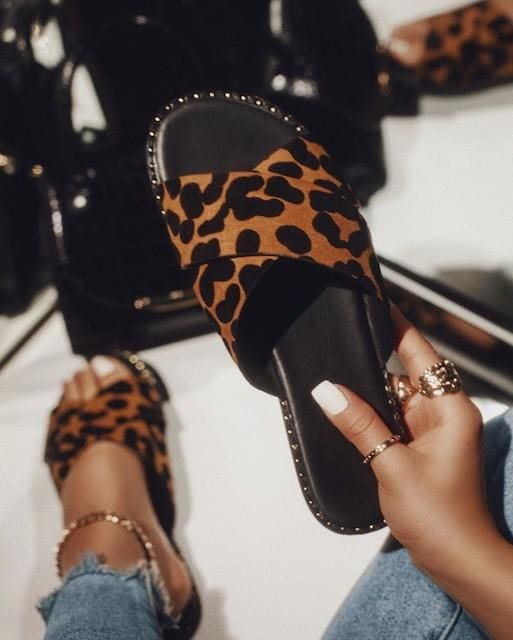 Kazen Leopard Slides - Shoes