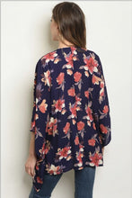 Load image into Gallery viewer, Midnight Dreams Floral Kimono - Kimono