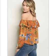 Load image into Gallery viewer, Mocha Orange Dream Ruffle Top - Top