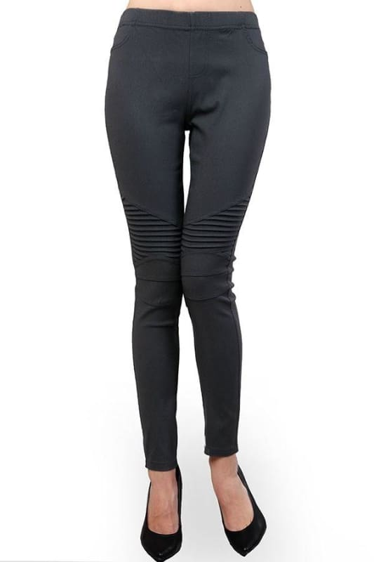 Moto Biker Leggings Plus - Pants