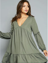 Load image into Gallery viewer, Odessa Baby Doll Dress-Olive - Dress