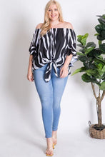 Load image into Gallery viewer, Off Shoulder Stripe Top - Top