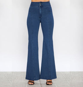 Rock the Bells Flare Denim Pants - Pants