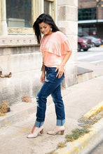 Load image into Gallery viewer, Rose Gold Sequin Boyfriend Jean - Jeans