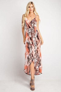 So Sexy Snakeskin Maxi Wrap Dress - Dress