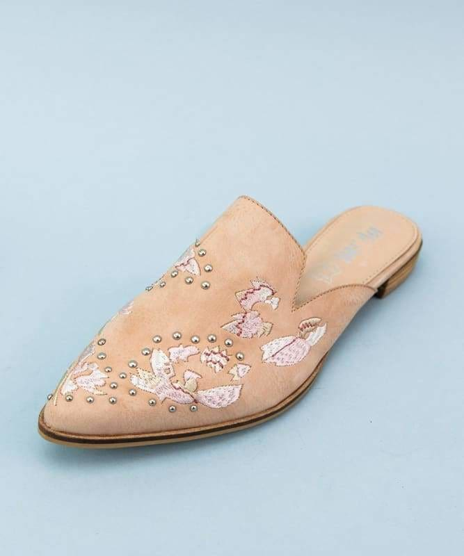 The Miranda Embroidered Mules Rose - Shoes
