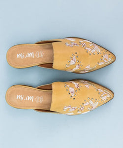 The Miranda Embroidered Mules - Shoes