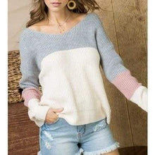 Load image into Gallery viewer, Warm and Sassy Twist Back Sweater - Top