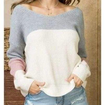 Warm and Sassy Twist Back Sweater - Top