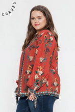 Load image into Gallery viewer, Wild Flower Boho Top - Top