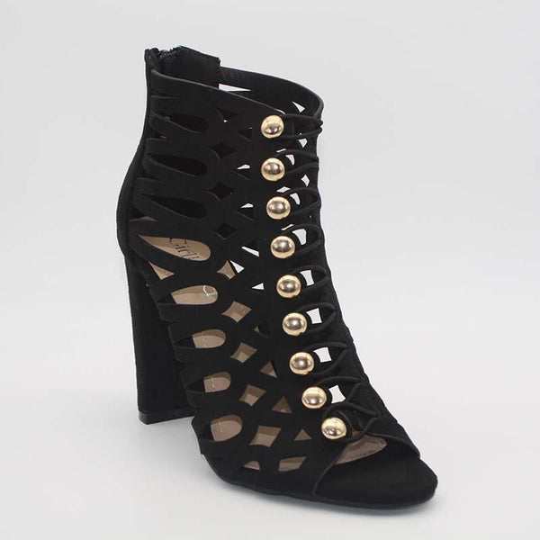 Bottines à talon noir Jelise
