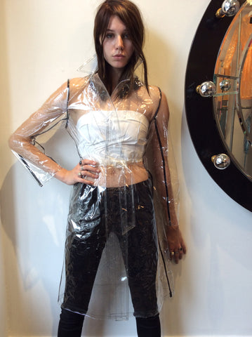 Clear PVC with Black Binding Pencil Trench