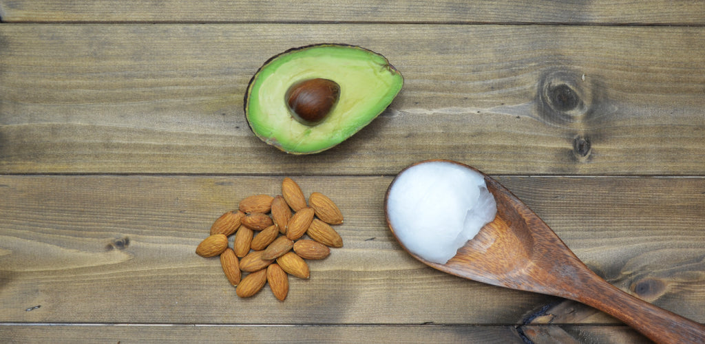 Healthy Fats Avocado Almonds Coconut Oil