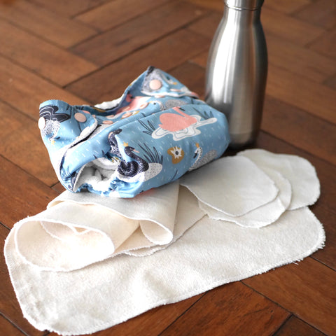 Reusable Baby Wipes made from Organic Cotton Molleton