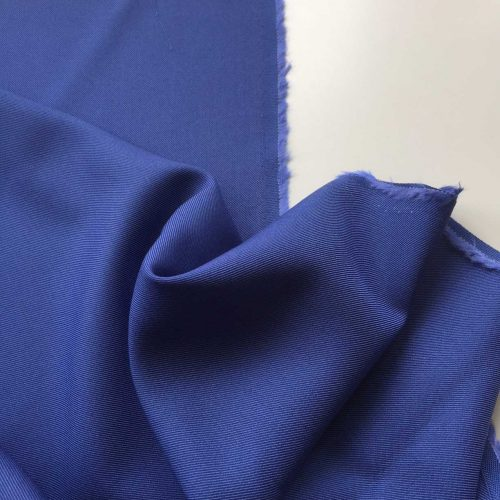 Summerwool Moon River - Royal Blue. Wonderfully light and soft wool/viscose blend in a deep and rich blue. High quality fabric made in Germany by Zuleeg.