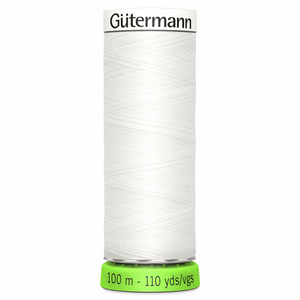 Gütermann Sew-all rPET Recycled Thread - 800 White