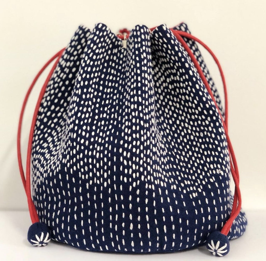 Blue and White Sashiko Bag Kit