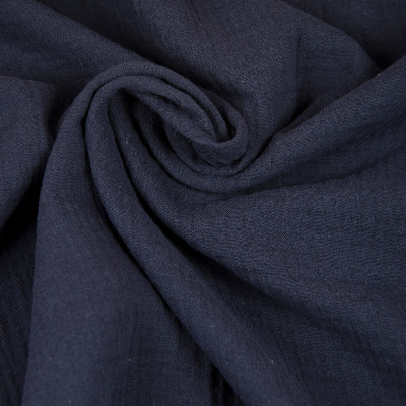Double Gauze - Navy - 0.5 metre