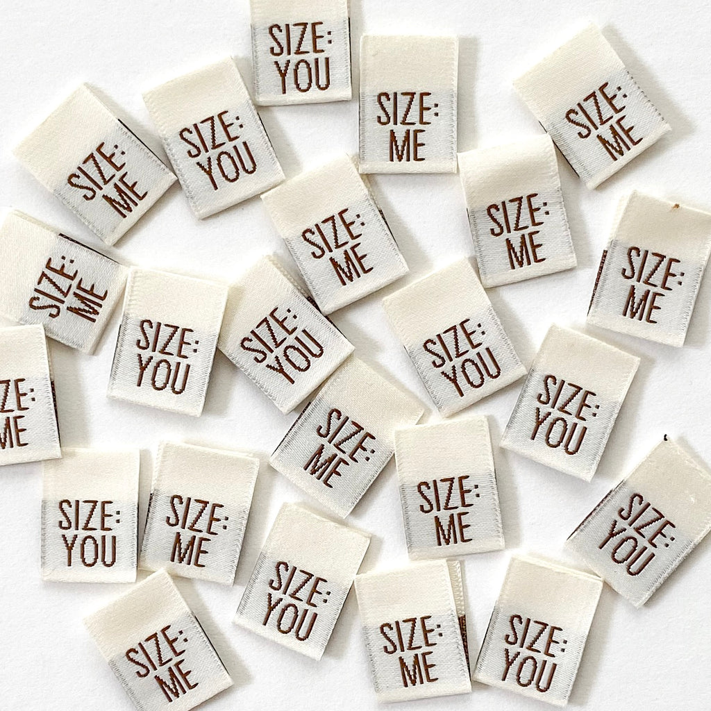 SIZE: ME/YOU - Pack of 8 Woven Labels