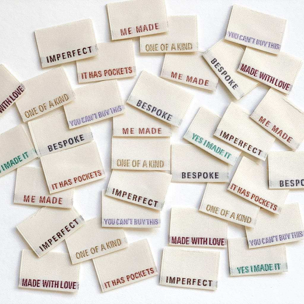 Limited Edition MULTI PACK - Metallic Side Seam Labels - Pack of 8 Woven Labels