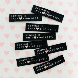 SEWING IS THE F*CKING BEST - Pack of 8 Woven Labels
