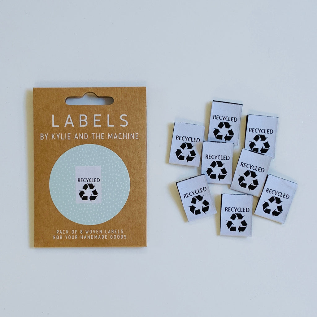 RECYCLED - Pack of 8 Woven Labels by Kylie and the Machine