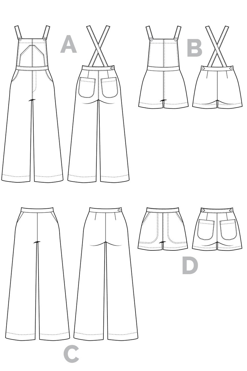 Jenny Overalls and Trousers Pattern by Closet Core