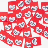 GRANDMA MADE IT - Pack of 8 Woven Labels