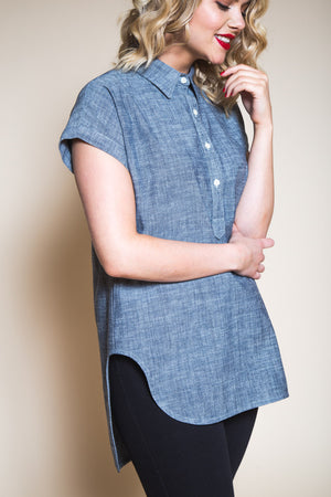Kalle Shirt & Shirtdress Pattern by Closet Core