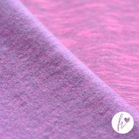 French Terry - Melange, berry. Comfortable sweater/jogging fabric suitable for a range of projects such as hoodies, jumpers, sweat pants, beanies and so much more.