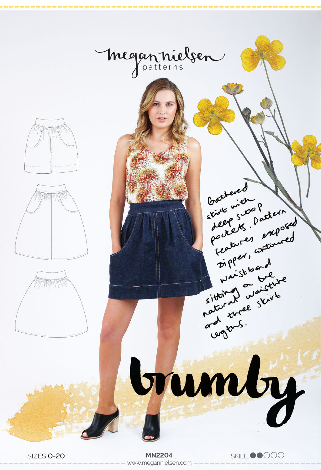 Brumby Skirt by Megan Nielsen Patterns