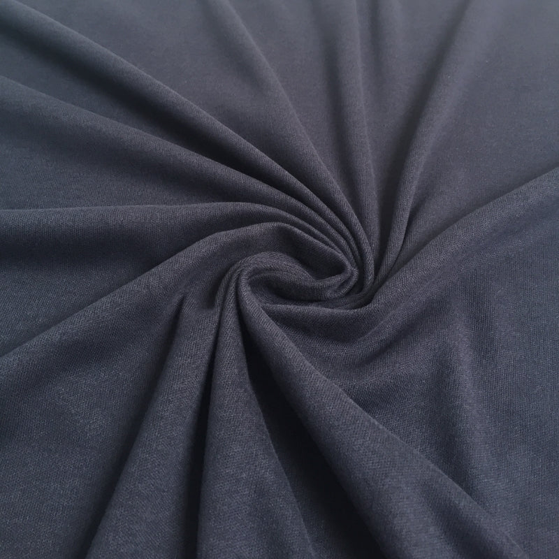 Organic Cotton Interlock - Navy