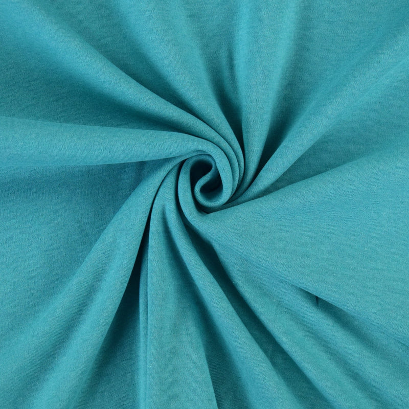 Organic Cotton Interlock - Aqua