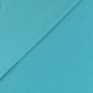 Organic Cotton Interlock Jersey - Aqua - 0.5 metre