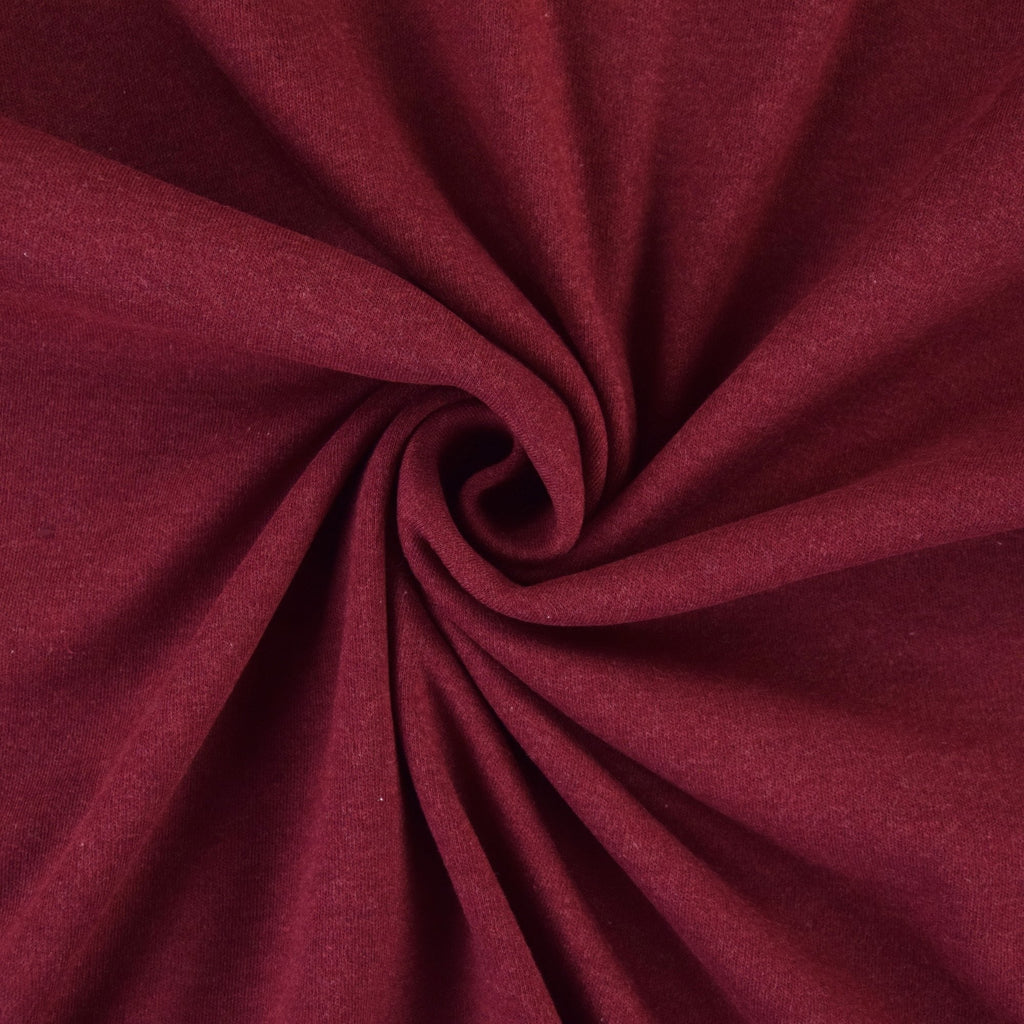 Organic Cotton Interlock - Bordeaux