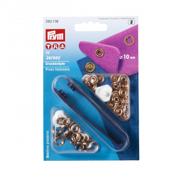 Prym Press Fasteners Jersey - Copper - 10mm