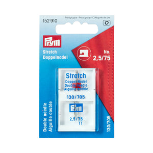 Prym Stretch Twin Sewing Machine Needle, Size 75