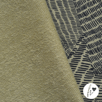 Rebekah - Certified Organic French Terry from Lillestoff. A non-brushed (looped back) sweater fabric.