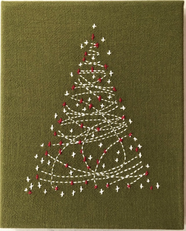 Sashiko Christmas Tree Kit
