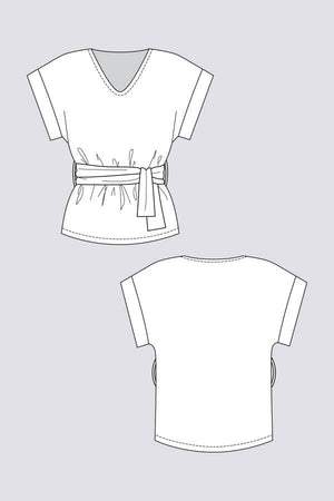 Sointu Tee Sewing Pattern by Named Clothing