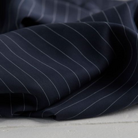 Eco-friendly Tencel Pin Striped Twill in Navy by Danish company meetMILK