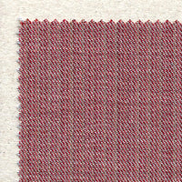 Wool Gabardine Lollipop - Red. Premium quality wool gabardine with stripes in hues of red going through the weave. The fabric has a lovely drape and a natural diagonal stretch.